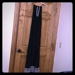 Black Maxi Dress. High neck.